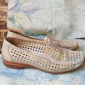 Rieker Anti Stress Rainbow Python Lasercut Loafers